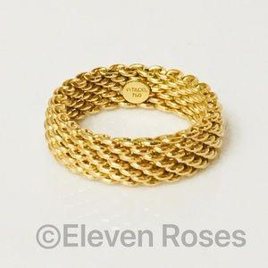 Tiffany & Co. Jewelry - Tiffany & Co. 18k Gold 6mm Somerset Ring